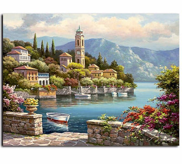 Landscape Village Vinci™ Paint-By-Number Kit