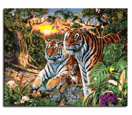 Tiger Family Vinci™ Paint-By-Number Kit