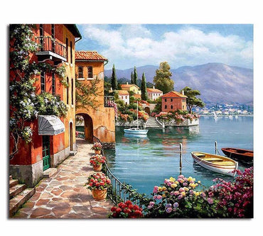 Harbor Landscape Vinci™ Paint-By-Number Kit