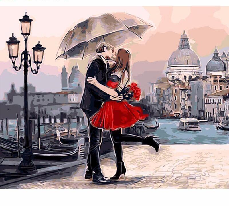 Romantic Kiss Vinci™ Paint-By-Number Kit