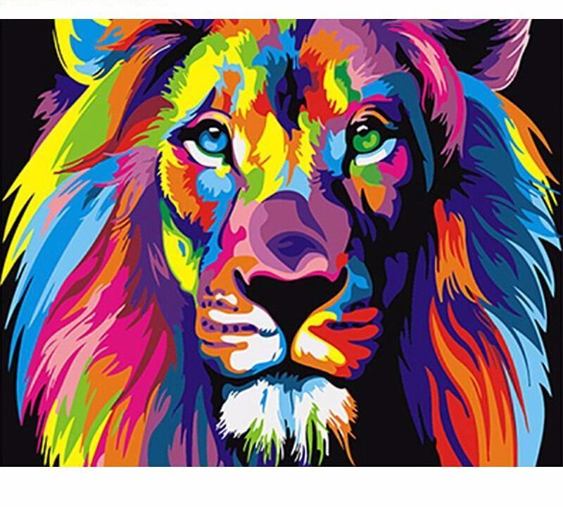Colorful Lion Vinci Trade Paint By Number Kit Ndash Gifts