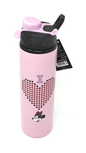 Minnie Mouse Design Stainless Steel Sipper Water Bottle