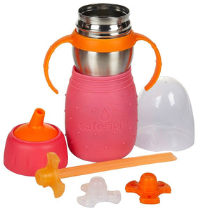 The Stainless Steel -Sippy Cup and Straw Bottle