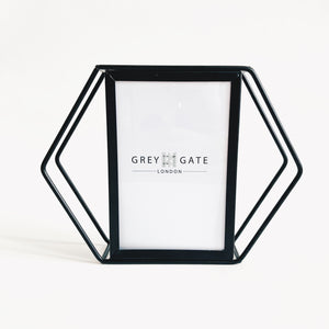 Black Hexagon Frame