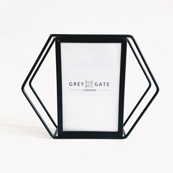 Black Hexagonal Frame 6x4