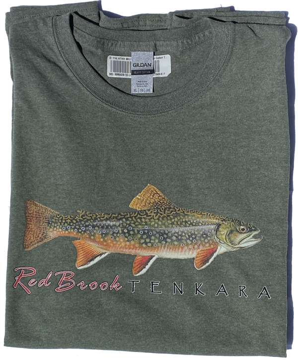 Brook Trout - Graphic T (color Heather Green)
