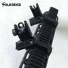 1 Pair Tactical Buis Front And Rear Side Sight Flip Up 45 Degree Rapid Transition Iron Sights Of Hunting Gun Accessories