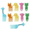 10 Pcs Animal Child Fruit Fork Eco Friendly Plastic Easy Decoration Kitchen Bar Kids Dessert Forks Tableware Holder For Party Dinnerware