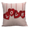 Hot Sale 3Pc Happy Valentine Pillow Covers Linen Sofa Cushion Cover Home Decor Decorative Coussin Valentines Day Gift