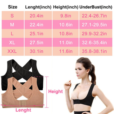 WOMEN BACK BRACE SUPPORT ORTHOPEDIC POSTURE