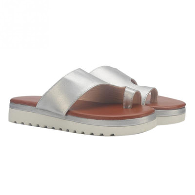 Women Leather Sandal Comfy Platform