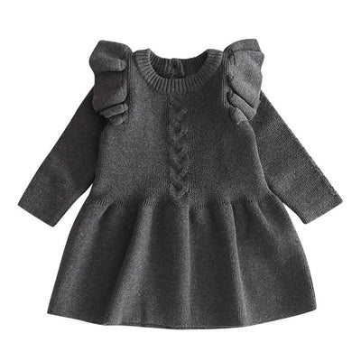 Baby Girl Dresses Clothes Casual Solid Long Sleeve