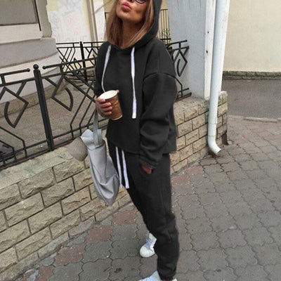 Jogging Suits For Women Hooded Zipper Long Sleeve