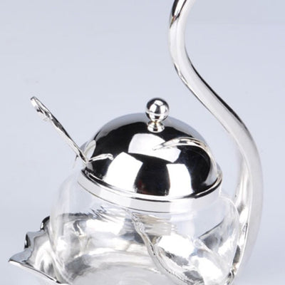Kitchen Seasoning Bottle Swan Storage Tank With Spoon Design