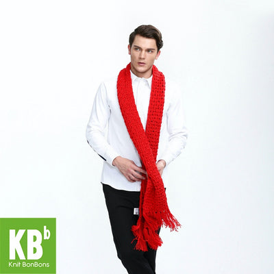2017 KBB Spring    Winter Popular Red Lace Style Knit Yarn Warm Winter Teengaers Fashion Neck Cover Wraps Scarves for Women Men - Dropshipper US