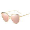 Fashion Brand Sunglasses For Women Glasses Cat Eye Sun Glasses Male Mirror Sunglasses Men Glasses Female Vintage Gold Glasses - Dropshipper US