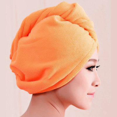 2017 High Quality Microfiber Bath Towel Hair Dry Quick Drying Lady Bath towel soft shower cap hat for lady man - Dropshipper US