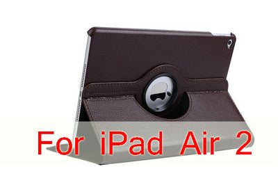 Case Cover For Apple iPad Air 2/iPad 6 (2014) PU Leather Flip Smart Stand 360 Rotating Case Screen Protector Film Stylus Pen - Dropshipper US