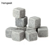 9pcs/pack Bottle Whisky Ice Stones Drinks Cooler Cubes Beer Rocks Granite  vinho Pouch Wine Accessories Chopeira - Dropshipper US