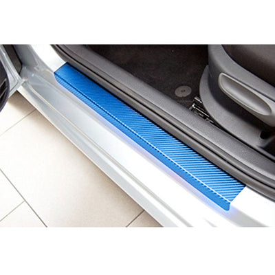 4PCS Car-Styling For Ford Fiesta 2009-2017 Car Door Scuff Sill Plates Step Plate Protector Carbon Car Sticker Car Accessories - Dropshipper US