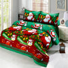 4pcs Cotton Bedding Set 3D Printed Cartoon Santa Claus Comfort Deep Pocket Bedclothes Duvet Quilt Cover Bed Sheet 2 Pillowcases - Dropshipper US