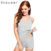 Ekouaer Womens  Pajama Sets Short Sexy Pajamas Tank and Camisole Cami Set Sleeveless Sleepwear O-Neck Sweetness Short Nightwear - Dropshipper US