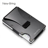 NewBring Metal Mini Money Clip Brand Fashion Black White Credit Card ID Holder With RFID Anti-thief Wallet Men - Dropshipper US