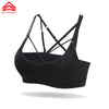 Syprem Sexy Pink Sports Bras High Quality Solid Surface Diamond Mesh Women's yoga-bh Gather Athletic Bra sports underwear1FT0873
