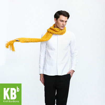 2017 KBB Spring    New Style Pure Yellow Cute Lace Style Winter Warm Yarn Knitted Women Men Neck Cover Scarf Scarves Wrap - Dropshipper US