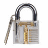 Pick Cutaway Inside Padlock Transparent Lock For Locksmith Practice Training - Dropshipper US