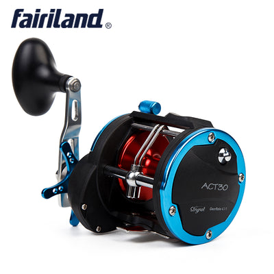 4BB RIGHT HAND 4.1:1 Fairiland Drum Trolling Reel 18Kg Drag Power Boat Fishing Reel 2 Colors (30A/B) Avail. Sea fishing tackle - Dropshipper US