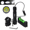 Tactical 5000Lm XML T6 LED Military Flashlight Hunting Torch 18650+Remote Switch+Charger - Dropshipper US