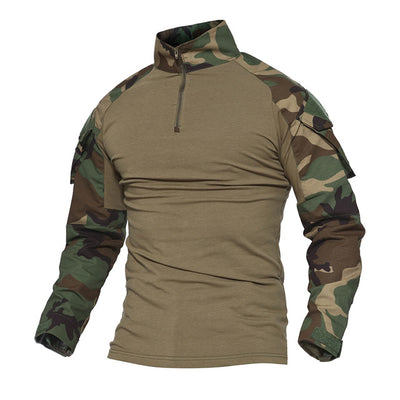 TACVASEN Python Camouflage Male T-shirts Army Combat Tactical T Shirt Military Men Long Sleeve T-Shirts WHFE-022 - Dropshipper US