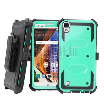 Heavy Duty Anti-Shock Armor Case Holster Belt Clip Phone Cover For LG X Style K200ds 5.0/Tribute HD/Volt 3/X Power K210 K220ds @ - Dropshipper US