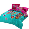 Svetanya Owl Duvet cover set kids Cartoon 3d bedding sets 3/5pc Cotton Quilt Cover and Pillowcases twin double queen king size - Dropshipper US