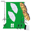 Andoer Professional Photo Studio Photography Lighting Kit with 45W Bulbs Light Stands Green Screen Backdrop Softbox Reflector - Dropshipper US