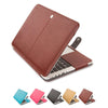 Mosiso PU Leather Book Cover for Macbook Pro 13 15 Retina 2013 2014 2015 Skin Case Women Men  Black Brown A1502  A1425 A1398 - Dropshipper US