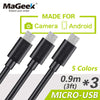 [3-Pieces] MaGeek Micro USB Cable 0.9mx3 / 3ftx3 Fast Charge Mobile Phone Cables for Samsung LG Huawei Xiaomi Android Phone - Dropshipper US