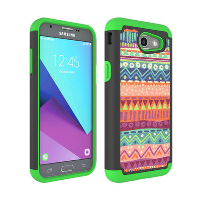 Dual Layer Tribal PC + TPU Rugged Case Shockproof Protective Cover For Samsung Galaxy J3 2017/J3 Emerge/J3 Eclipse/J3 Mission @ - Dropshipper US