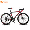 Cyrusher XC760 Unisex Commuting Road Bike 700C*52cm Aluminum Alloy Frame Bicycle 14 Speeds Racing Road Bicycle Double Disc Brake - Dropshipper US