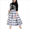 Echoine 2017 Women Skirt Fashion Piano Music Print High Waist Ball Gown Knee Length Casual Women Skirts - Dropshipper US