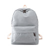 Xiniu Canvas Backpack Solid School Bags For Teenage Girls Womens Boy Girl Schoolbag College Rugzak Vrouwen gray  #360 - Dropshipper US