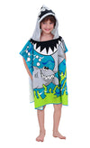 Sinland Shark Children's Hooded Bath Towel print mermaid or shark - Dropshipper US