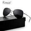 FONEX Brand Men's Polarized Sunglasses Rimless Aviation Driving Titanium Alloy Sunlgass Sports Womens Sun Glasses for Men 20008