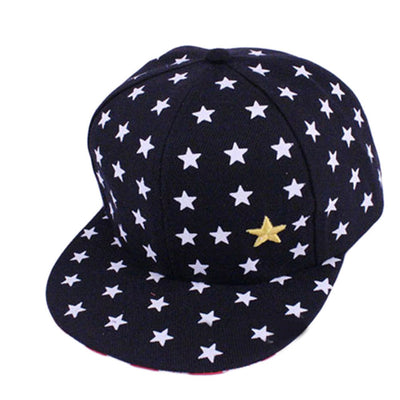2017Fashion Printing Stars Striped Sun Truck Hat Adjustable  New Kids Baby Children Star Pattern Hip Hop Baseball Cap Peaked Hat - Dropshipper US