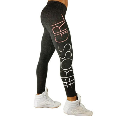Women High Waist Letter Print Leggings Fitness Pants Trouser Ropa Deporte Mujer f3 - Dropshipper US