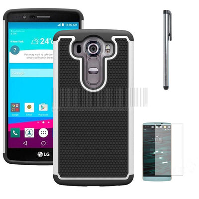 Case For LG V10 F600 H968/G4 Pro H900 Rugged Armor Hybrid Impact Shockproof Silicone Case Hard Cover With FILMS STYLUS - Dropshipper US