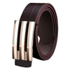 KLV New Designer Men Women Automatic Buckle Leather Waist Strap Belts Buckle Belt Fancy Vintage for Jeans#25 - Dropshipper US