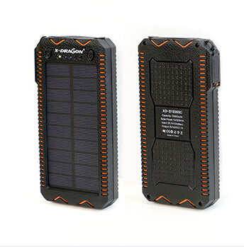 15000mAh Power Bank Solar External Battery Electric Cigarette Lighter Power Bank for iPhone 5 5s SE 6 6s 7 Samsung LG Phones etc - Dropshipper US