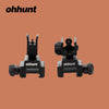 ohhunt Hunting Accessories AR 15 Flip up Front Rear Sight Rapid Transition Aluminum Quick Detachable for Tactical Camping - Dropshipper US